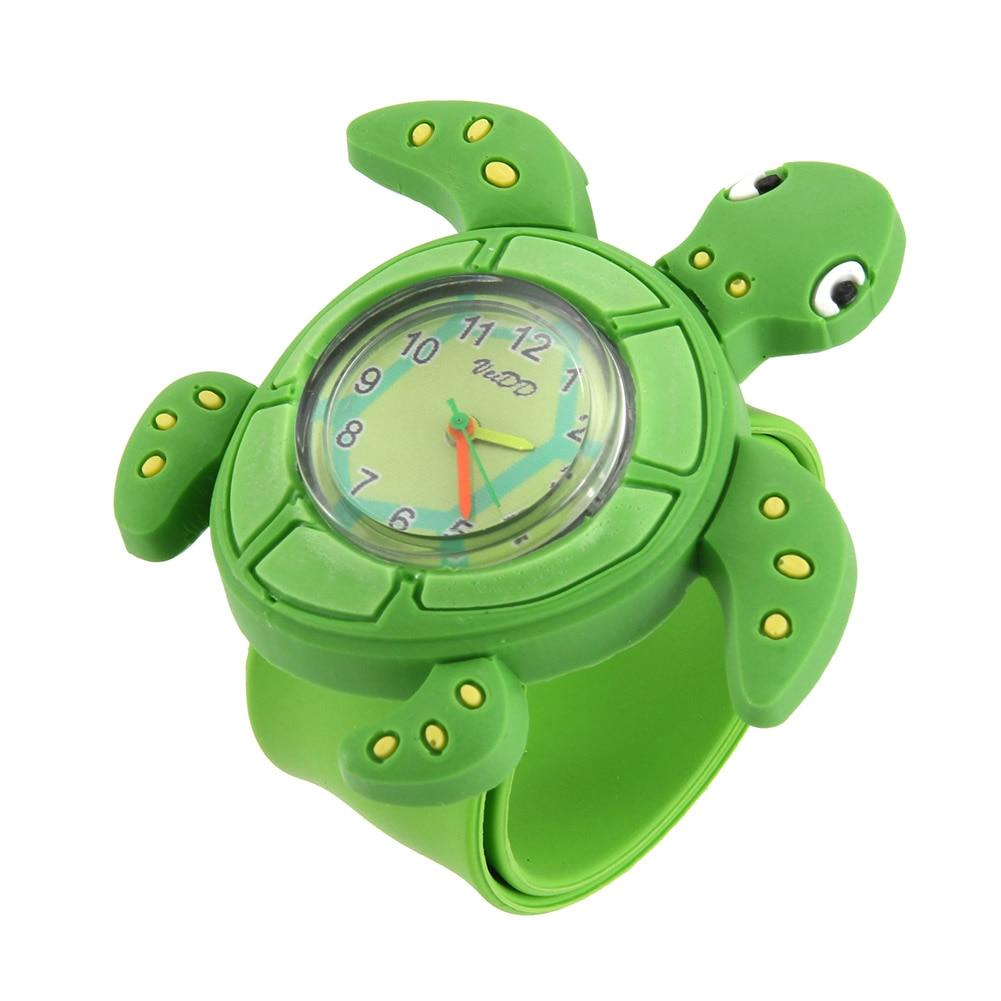 Lovely Reloj New Children Cute Tortoise Watch Animal Cartoon Silicone Band Bracelet Wristband Watch For Boy Babies Girls Kids