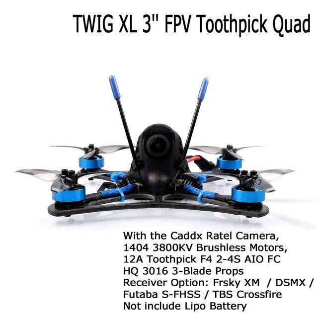 BETAFPV Dron teledirigido con cámara y palillos de dientes, cuadricóptero teledirigido de 3 pulgadas con cámara de 5,8G VTX 1404 3800KV, sin escobillas, 12A F4 2 4S AIO BNF, compatible con 4S Lipo RC