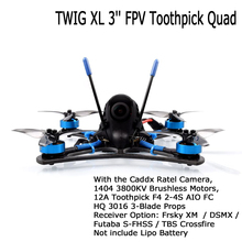 BETAFPV TWIG XL 3 FPV Toothpick Camera Drone 5.8G VTX 1404 3800KV Brushless 12A F4 2 4S AIO BNF Support 4S Lipo RC Quadcopter