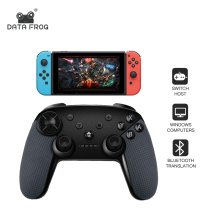 Data Frog Wireless Bluetooth Gamepad For Nintend Switch Controller Vibration Screen Game Joystick