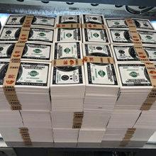 100 pces brinquedo dinheiro piada dinheiro tamanho real 20 50 euro banknoteuro céu e inferno joss papel eua falso 100 dólares não dinheiro real!