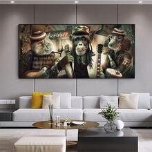 Абстрактные современные курительные очки музыка хип хоп обезьяна