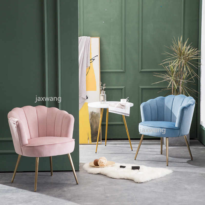 Nordic Small Living Room Chair Bedroom Household Tiger Chair Ins Light  Extravagant Makeup Chair Pink Gold Sofa Chair