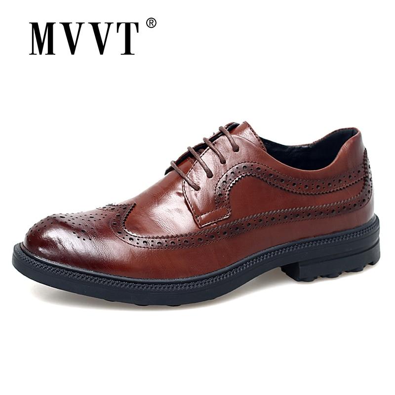 MVVT/модная обувь из натуральной кожи с принтом; Мужские деловые модельные туфли в английском стиле; Броги без шнуровки; Мужские туфли оксфорды shoes british shoes fashionshoes genuine leather   АлиЭкспресс