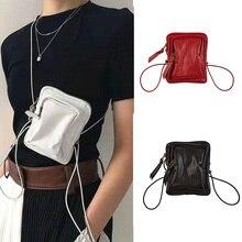 купить Vintage PU Leather Handbags Luxury Brand Designer Women Messenger Bags Solid Color Ladies Small Shoulder Pack  Mini Coin Purses по цене 971.76 рублей