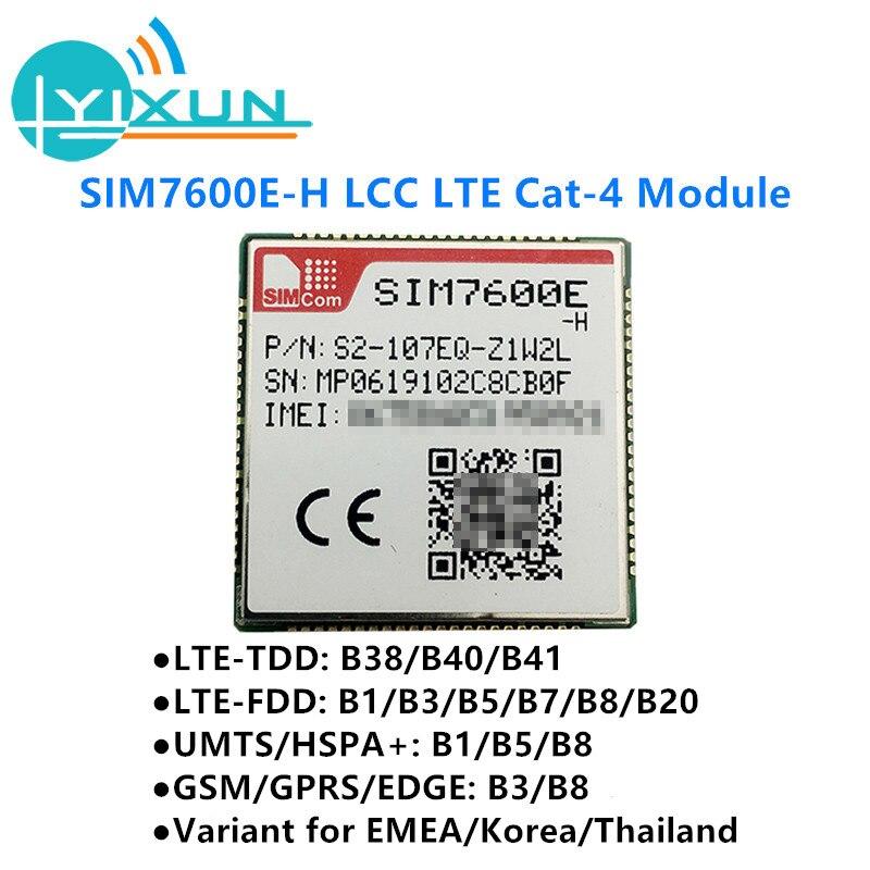 SIMCOM SIM7600E-H LCC LTE Cat4 Module LTE-TDD B38/B40/B41 LTE-FDD B1/B3/B5/B7/B8/B20 UMTS/HSPA+ B1/B5/B8 GSM/GPRS/EDGE B3/B8