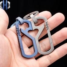 Keychain Titanium Alloy Men Women Couples High Custom Gift Hang Buckle Pieces Personality Creative Open Bottle Car Key Ring EDC