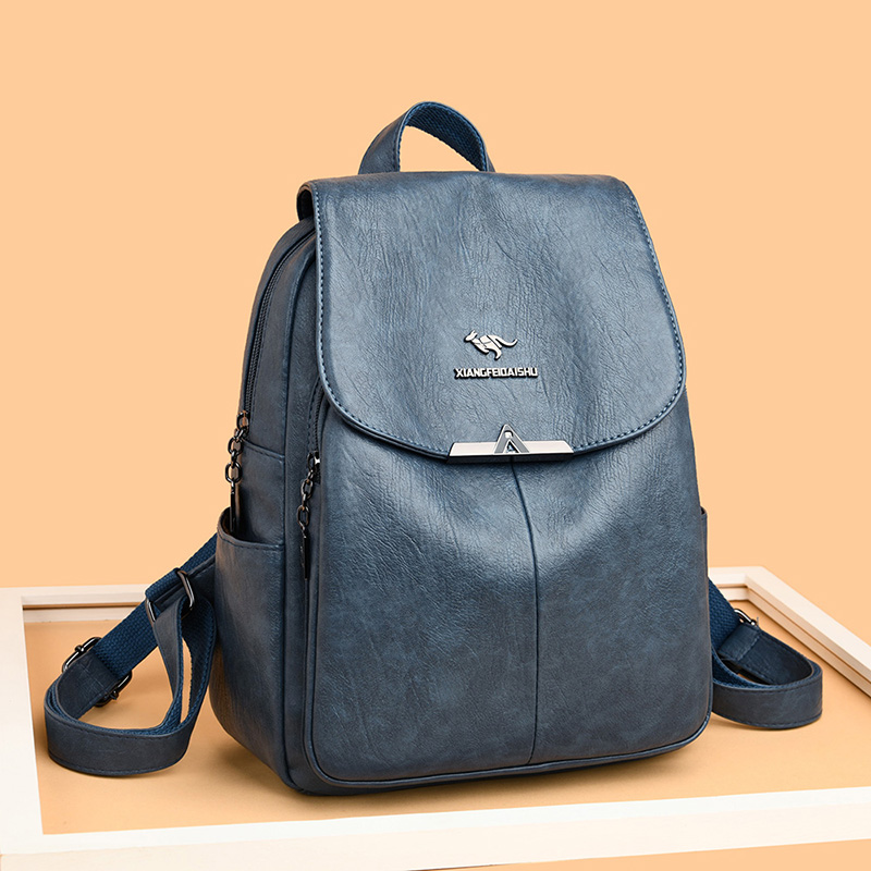 High Quality Leather Backpack Women Designer Backpack Large Capacity Travel Backpacks Casual Women's Backpack Mochila Big Bags