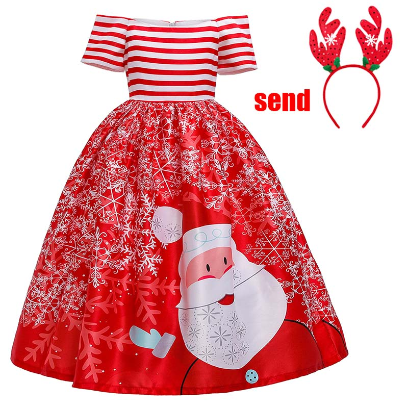 2019 Girl Ball Gown Princess Dress For Wedding Party Kids Dresses For Toddler Girl Children Fashion Christmas Clothing