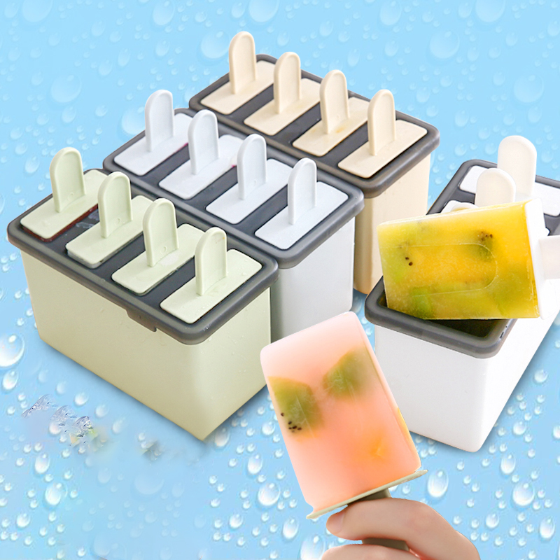 Kitchen Frozen Ice Cream Cake Mold Popsicle Maker Lolly Mould Tray Pan Tools D