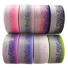"""1-1/"""" 38 мм 5 ярдов блестящие Серебристые печатные корсажные ленты DIY ленты для волос материалы ручной работы MD18021003"""