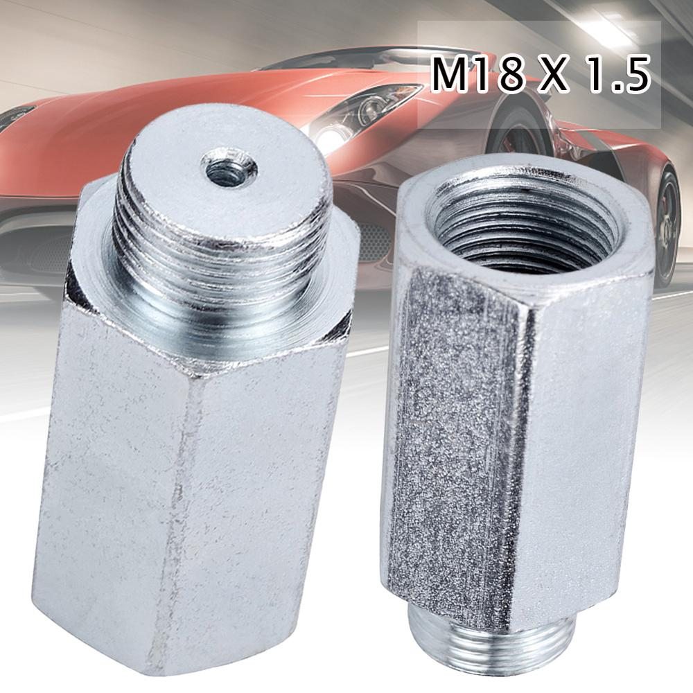 1PCS Stainless Steel M18x1.5 O2 Oxygen Sensor Extender Spacer For Decat Hydrogen O2 Extender Spacer Automotive Accessories