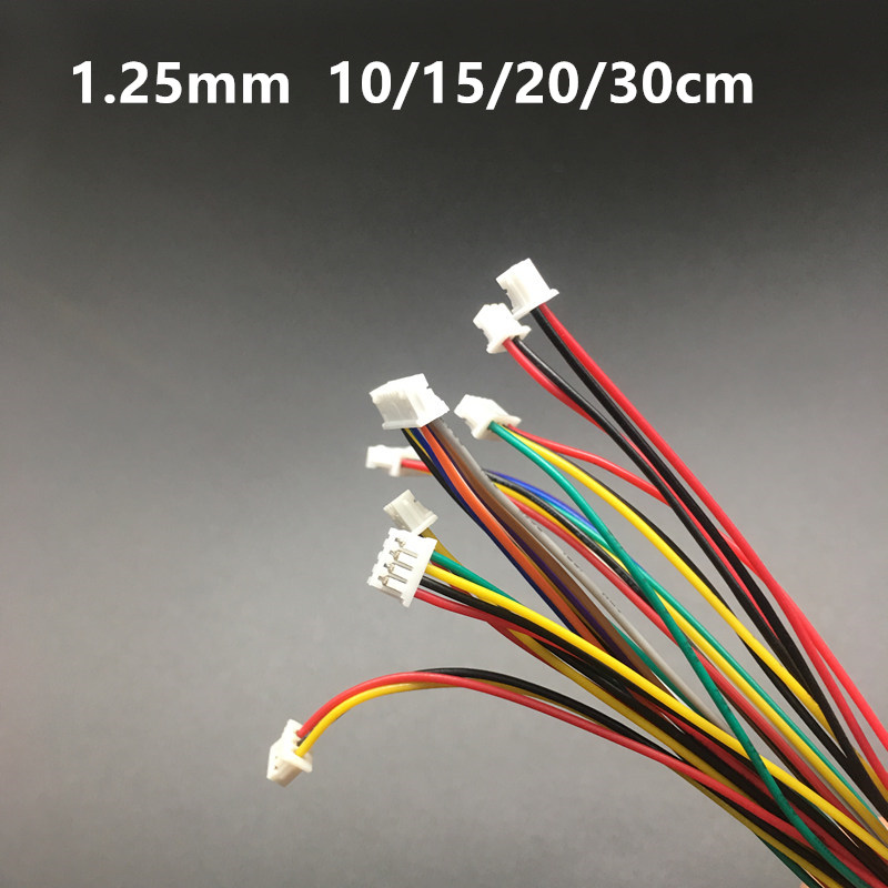 10PCS mini micro JST 1.25 2/3/4/5/6/7/8/9/10 pin female plug connector with wire 1.25MM 2p/3p/4p/5p/6p/7p/8p/9p/10p cable