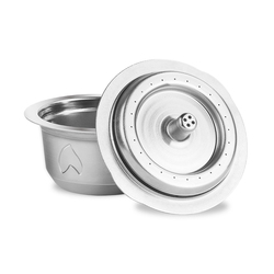2 IN 1Reusable Vertuo Coffee Capsule Steel Stainless Metal for Nespresso Vertuoline Plus Machine Cream Coffee Filter
