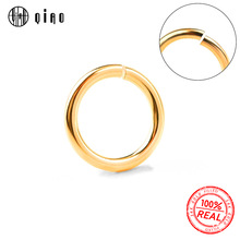 10pcs 0.5/0.64/0.76/0.81mm 14K gold filled open jump rings 14K gold Split Ring For Making Keychains & Bracelet Jewelry Findings