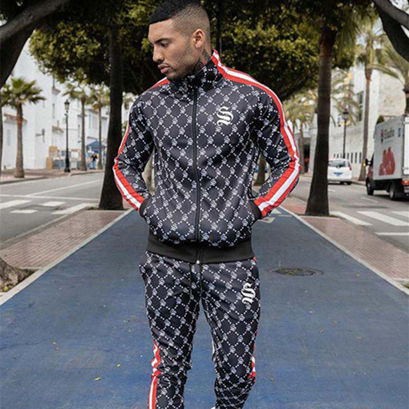 Men's Sets Two-piece Sportswear Running Suit Gyms Hoodie+trousers Sets Men's Sport Suits Bodybuilding Tracksuit Hoodie Men Suit