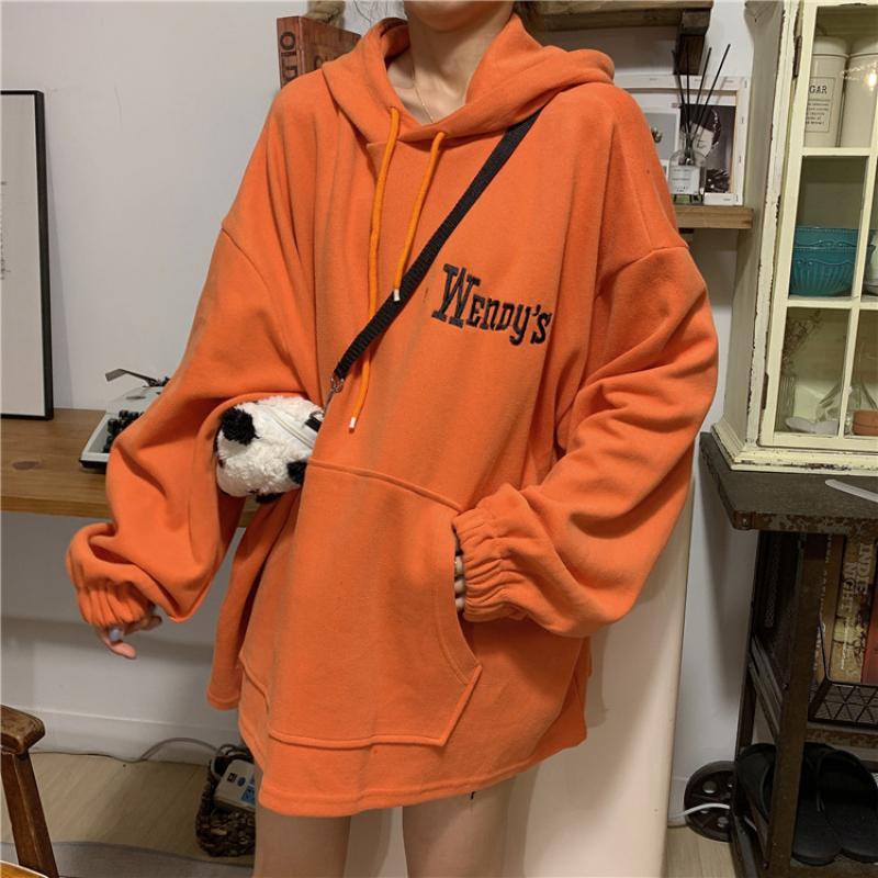 SVOKOR Oversized Loose Casual Sweatshirt Pocket Print Hoodies Women Spring And Autumn Korean Version Hoodie