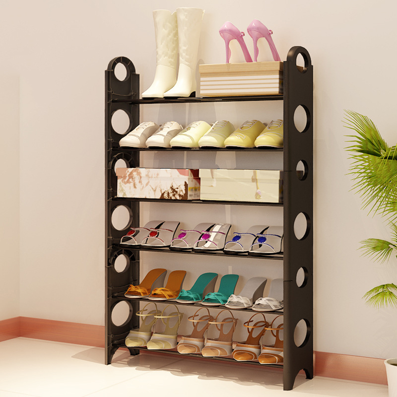 Multilayer Assemble Shoe Rack High Quality Steel Pipe Shoe Cabinet Furniture Organizer Kitchen Shoe Storage Shelves Store Shoes