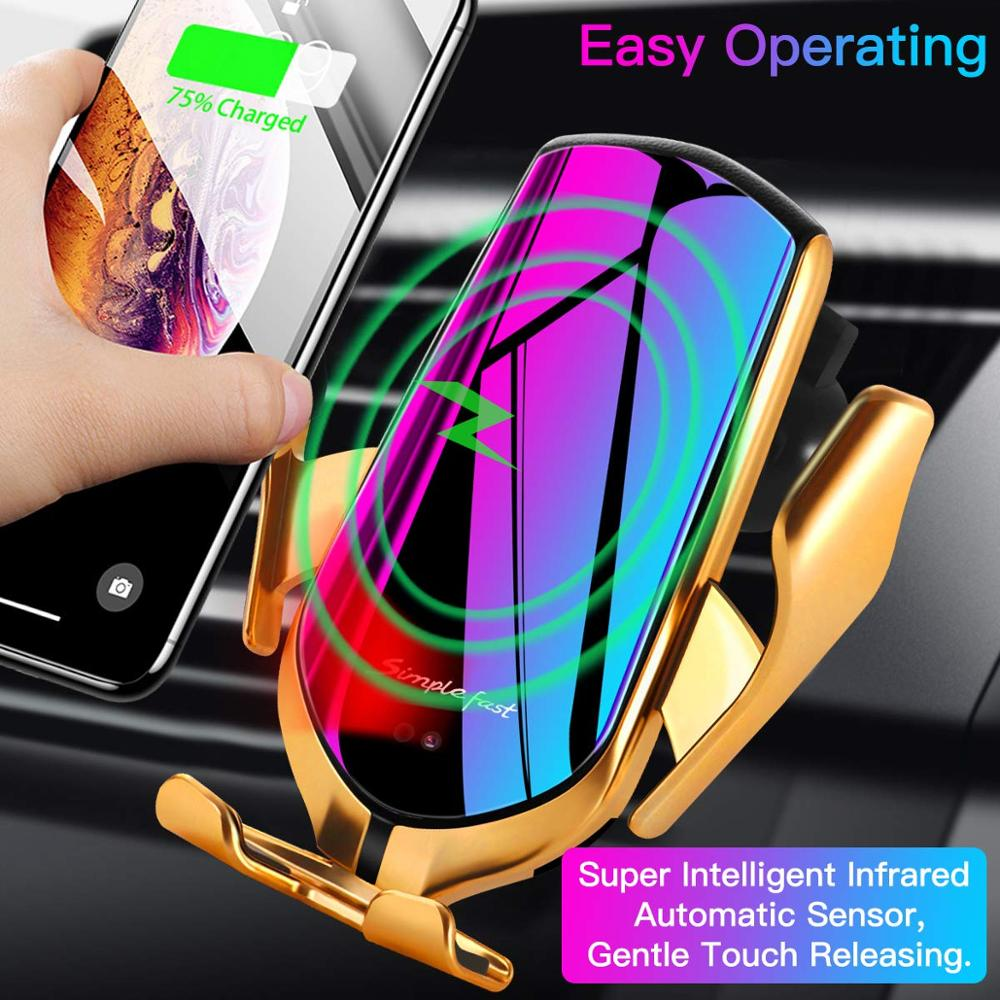 DCAE Car-Charger Xiaomi IPhone Xs Samsung S10 10w Wireless Qi Mi-9 No For Xr-X-8 S9 Note