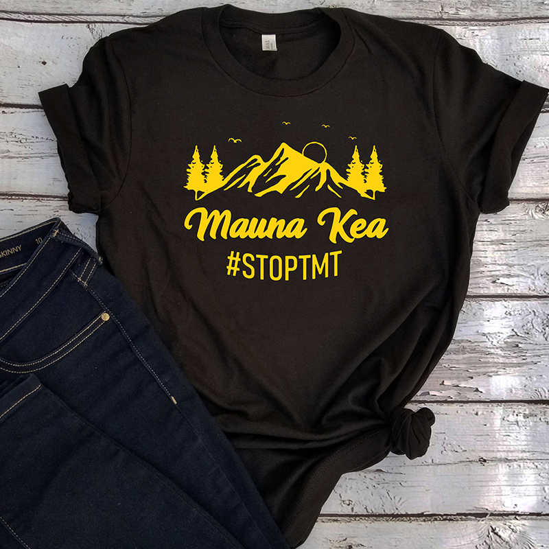 We Are Mauna Kea Tshirt Women Vintage Mountain Tops Aesthetic Shirts Woman 2018 White Top Christmas Tee Print 2019 Harajuku