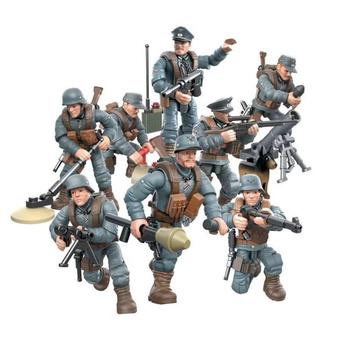world war Battle in Normandy mega blocks ww2 germany army forces figures building bricks weapons gun toys for boys gifts pre order general quality version 135 world war ii germany twelfth armored division resin toys