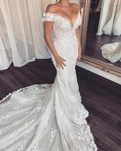 Image 5 - Eslieb 3d flower lace wedding dress 2020 Sexy Mermaid wedding dresses Bridal Dresses