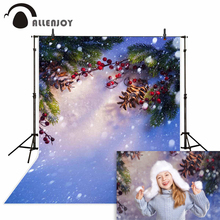10x20ft(3x6m) christmas photography backdrops Sunshine berries snow  background for photo shoot ZJ 10x20ft snow winter scenic photographic theme background hand painted muslin photography christmas backdrops k2020
