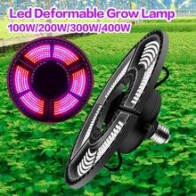 Nowy 400W E27 lampa LED do hodowli roślin lampa UV IR pełne spektrum rosnące żarówki Hydro dla kwiatów nasiona Veg kryty cieplarnianych Growbox