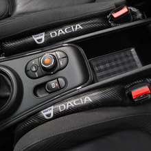 1 Chiếc Sợi Carbon Chống Rò Rỉ Bảo Vệ Ghế Khoảng Cách Xe Ô Tô Miếng Lót Cho Dacia Lau Bụi Logan Sandero Lodgy Phụ Kiện Ô Tô tạo Kiểu Tóc