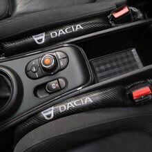 1PCS คาร์บอนไฟเบอร์ป้องกันการรั่วซึมที่นั่ง Gap รถฝาครอบ Pad สำหรับ Dacia Duster Logan Sandero Lodgy อุปกรณ์เสริม จัดแต่งทรงผม