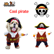SUPREPET Pet Dog Autumn Winter clothes Cat Clothes Costume Pirate Cosplay Suit Halloween Dropship Hot