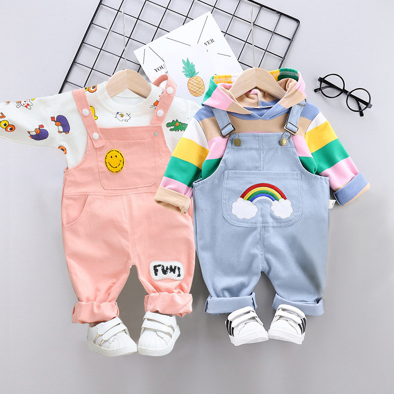 Baby Girls Clothes Spring Newborn Sets Cotton Long Sleeve T-shirt + Pants 2pcs Suit Fashion Baby Girls Sports Suit Clothing Sets