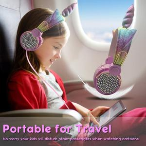 Image 3 - Leuke Unicorns Bedrade kidsHeadphone Muziek Stereo Oortelefoon voor Computer Mobiele Telefoon Gaming Headset Kid Meisjes Dochters Gift