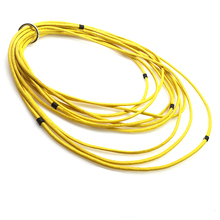 YD&YDBZ New Yellow Leather Necklace Women Punk Pendant Synthetic Jewelry Handmade Choker Collar Gothic