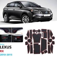 Противоскользящими резиновыми затворный слот коврик для Lexus RX RX270 RX350 RX450h 2010 2012 2013 Аксессуары 270 350 450h наклейки