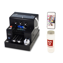 Automatic A4 UV Flatbed Printer UV Flatbed Printer For Bottle Phone Case Glass Metal Wood Printing