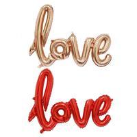 Large Shape Handwritten Love Balloon Aluminum Film Cartoon Balloon Wedding Decoration High Quality Conjoined Letters