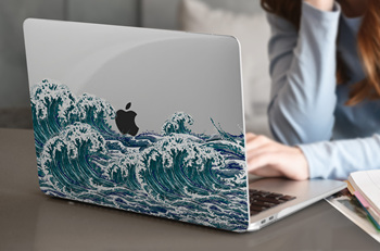 Matte Clear Painting Case for MacBook 4