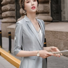 Women suits Slim summer Half sleeve blazers jacket pants 2-p