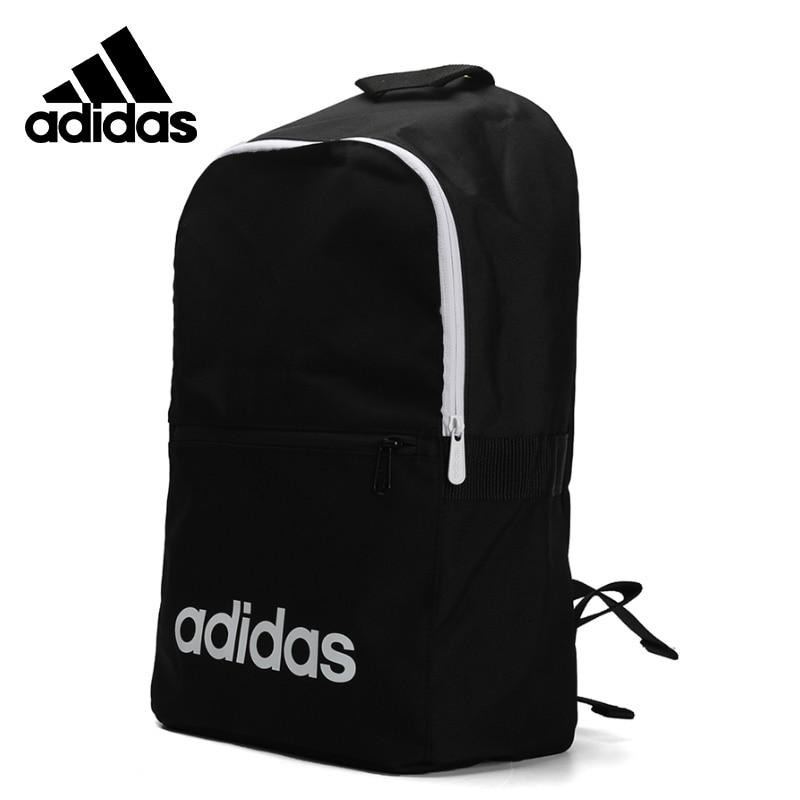 Original Adidas LIN CLAS BP DAY Black Backpack Unisex Handbags Sports Training Bags DT8633