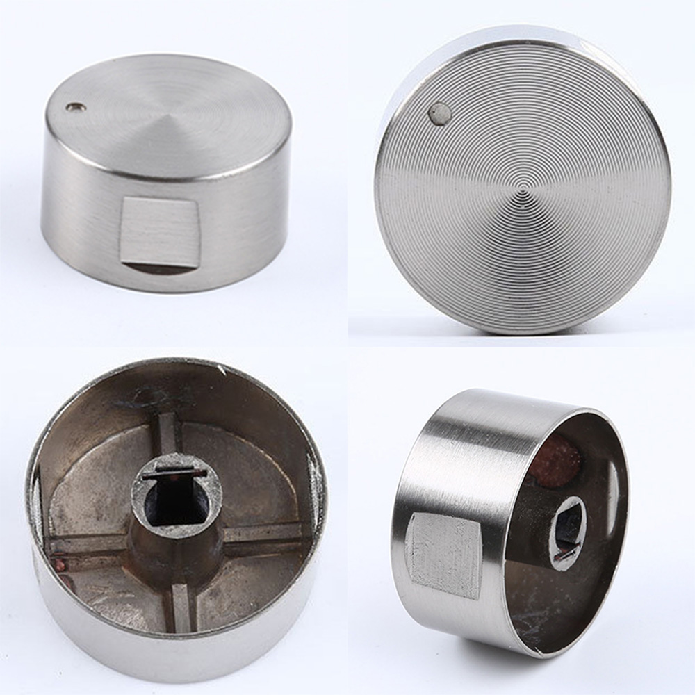 4Pcs Alloy Material Rotary Switches Round Knob Gas Stove Burner Oven Kitchen Parts Handles For Gas Stove