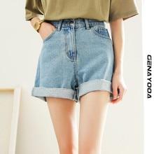 Genayooa Denim High Waist Shorts Jeans 2021 Summer Korean Shorts Women Casual Women's Short Feminino