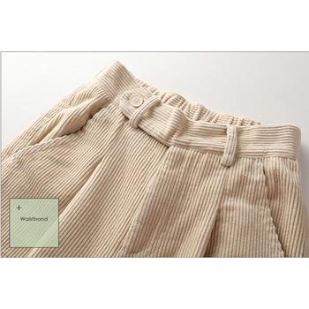 autumn winter Corduroy Pants women high waist pockets trousers women plus size 2019 streetwear Harem pants pantalon femme 5