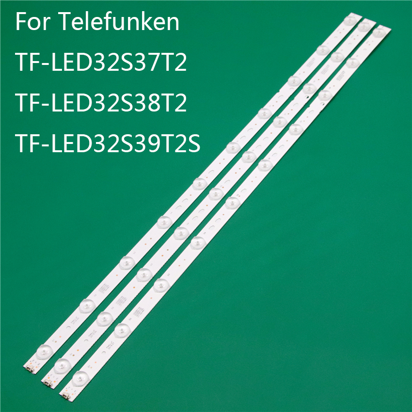 New LED TV Illumination For Telefunken TF-LED32S37T2 TF-LED32S38T2 TF-LED32S39T2S LED Bar Backlight Strip Line Rulers 32PAL535