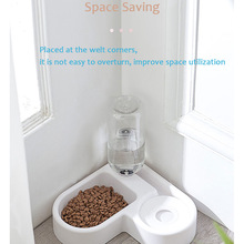 Cat Bowl Dog Water Feeder Bowl Cat Kitten Drinking Fountain Food Dish Pet Bowl Goods Automatic Pet Feeder with Water Dispenser 2020 new pet automatic feeder dog cat drinking bowl for dog water drinking cat feeding large capacity dispenser pet cat dog