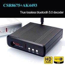 TZT بلوتوث 5.0 CSR8675 + AK4493EQ NE5532/OPA1612 فك DAC بلوتوث فك دعم LDAC USB APTX HD AK4493