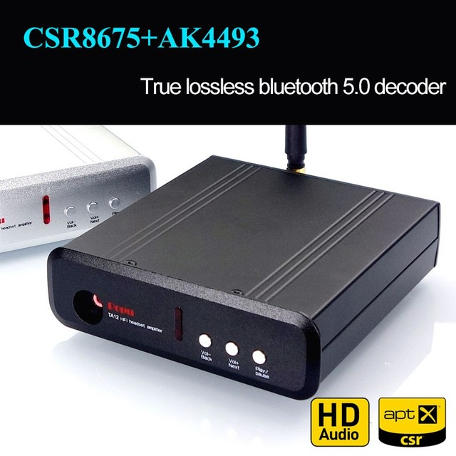TZT Bluetooth 5.0 CSR8675+AK4493EQ NE5532/OPA1612 Decode DAC Bluetooth Decoder Support LDAC USB APTX HD AK4493