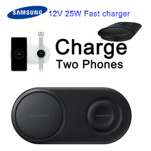 Original Samsung EP-P5200 2 in 1 Pad Duo Wireless Fast Charger for Galaxy NOTE 10 9 8 s8/s9/S10/s20/Watch S2/3 free fast charger