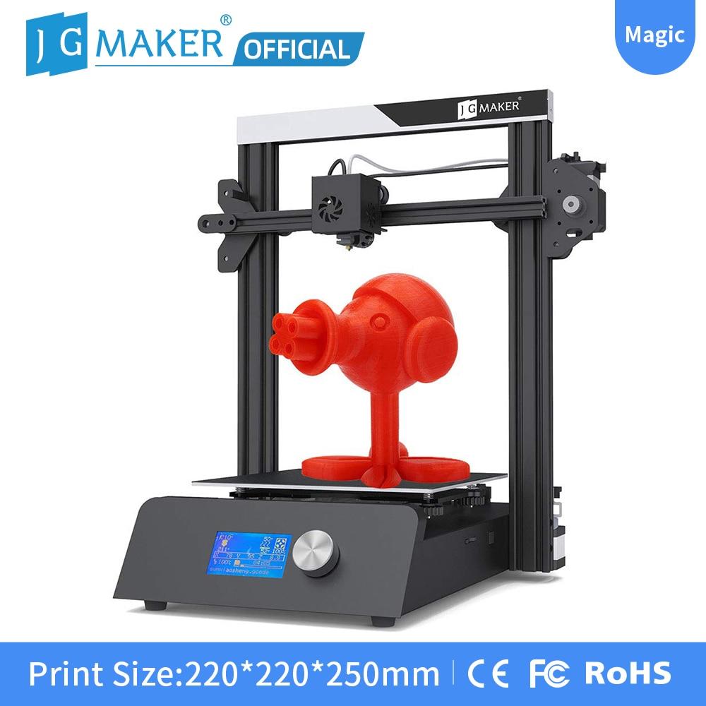 JGMAKER магический 3D принтер алюминиевая рама DIY набор большой размер печати 220x220x250 мм печатные маски Быстрая доставка JGAURORA