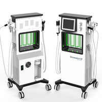 2019 nueva tecnología de piel brillante pelado por agua oxígeno jet limpieza Facial anti-envejecimiento levantamiento Facial cuidado de la piel máquina de belleza